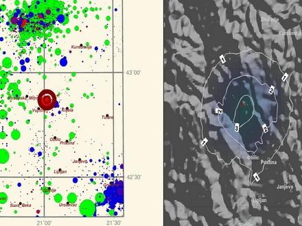 Zemljotres zaljuljao Vranje 1422517117-mapa