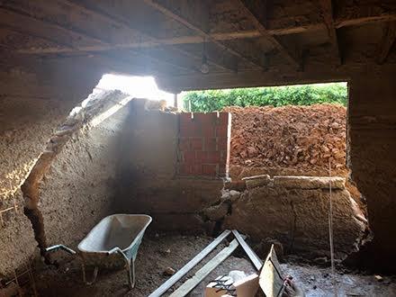 Detaj iz kuće koja je srušena FOTO amaterski snimak