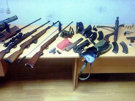 Oružje zaplenjeno u Vranju FOTO MUP