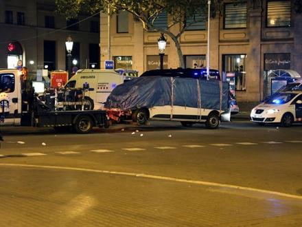 Kombi kojim je izvršen teroristički napad FOTO: Reuters