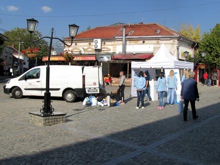 Svakodnevni prizor u pešačkoj zoni FOTO: D. Ristić/OK radio
