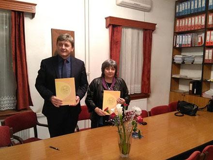 Mastilović i Denić potpisali sporazum. Foto: Pedagoški fakultet