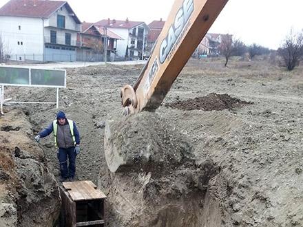 Radovi na novoprojektovanoj ulici. Foto: FB