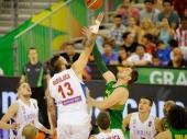 Srbija igrala samo jednu četvrtinu