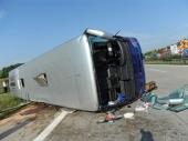 Prevrnuo se autobus, ne zna se broj povređenih