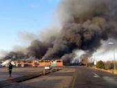 Ugašen požar na Makišu