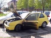 U Romanijskoj goreo automobil