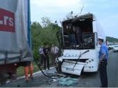 Sudar kamiona i autobusa