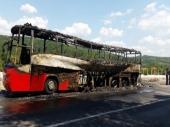 EKSPLOZIJA: Potpuno izgoreo autobus kod Leskovca