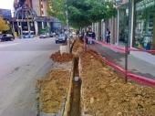 Raskopani trotoari u centru: Nije do Direkcije