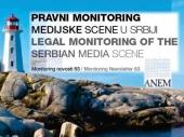 Novi izveštaj pravnog monitoringa medija