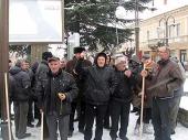 Protest radnika Preduzeća za puteve (FOTO)