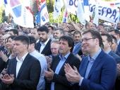 Vučić: SNS u Vranju osvojila 75,1 odsto