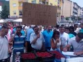 Miran protest južnosrpskih malinara