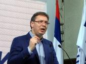 Vučić ipak u vranjskoj hali