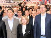 TEŽAK UDES potpredsednice SPS-a na povratku iz Vranja
