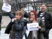 Stidljivi PROTEST Vranjanaca (FOTO, VIDEO)