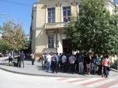 Advokati Vranja na protestu zbog ubistva kolege u Jagodini