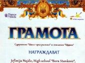 Gimnazijalka osvojila PRVU NAGRADU u Bugarskoj
